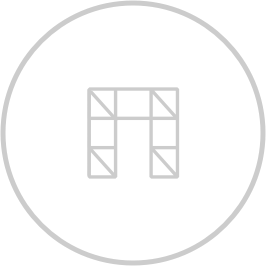 Scaffolding icon inside a circle