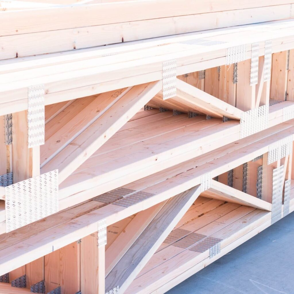 Material supply images, light timber pieces